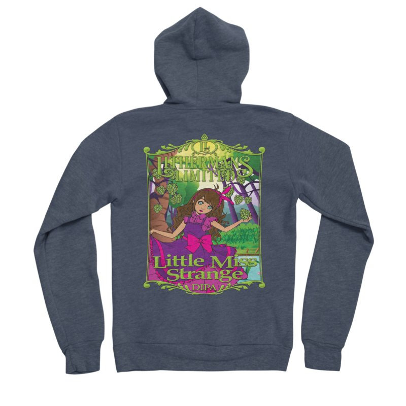 Little Miss Strange Men's Sponge Fleece Zip-Up Hoody by Lithermans Limited Print Shop
