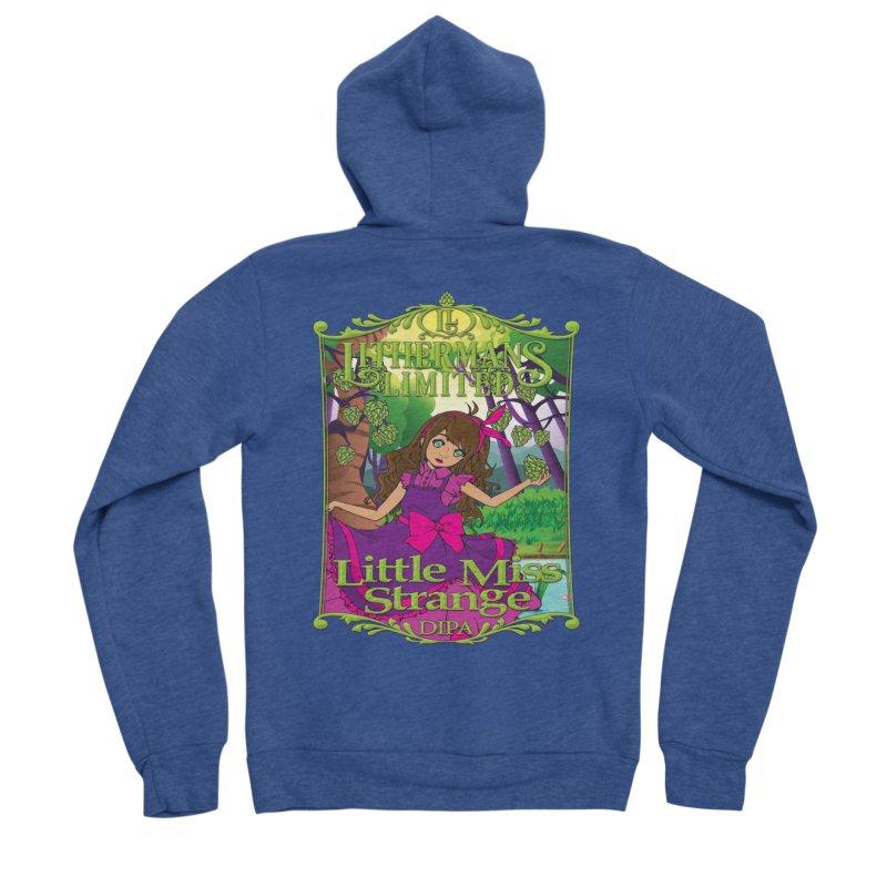 Little Miss Strange Women's Sponge Fleece Zip-Up Hoody by Lithermans Limited Print Shop