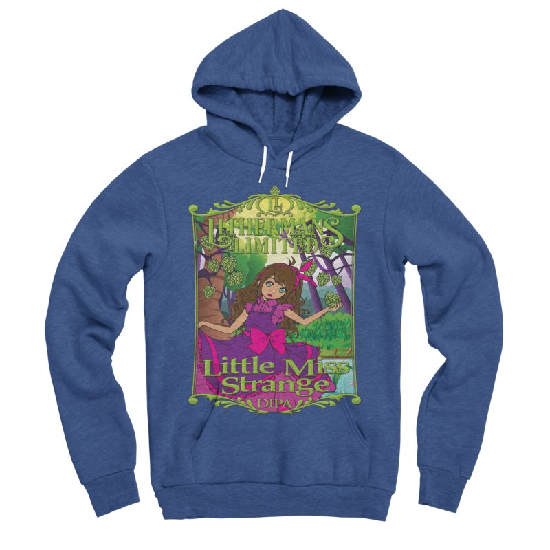 Little Miss Strange Men's Sponge Fleece Pullover Hoody by Lithermans Limited Print Shop