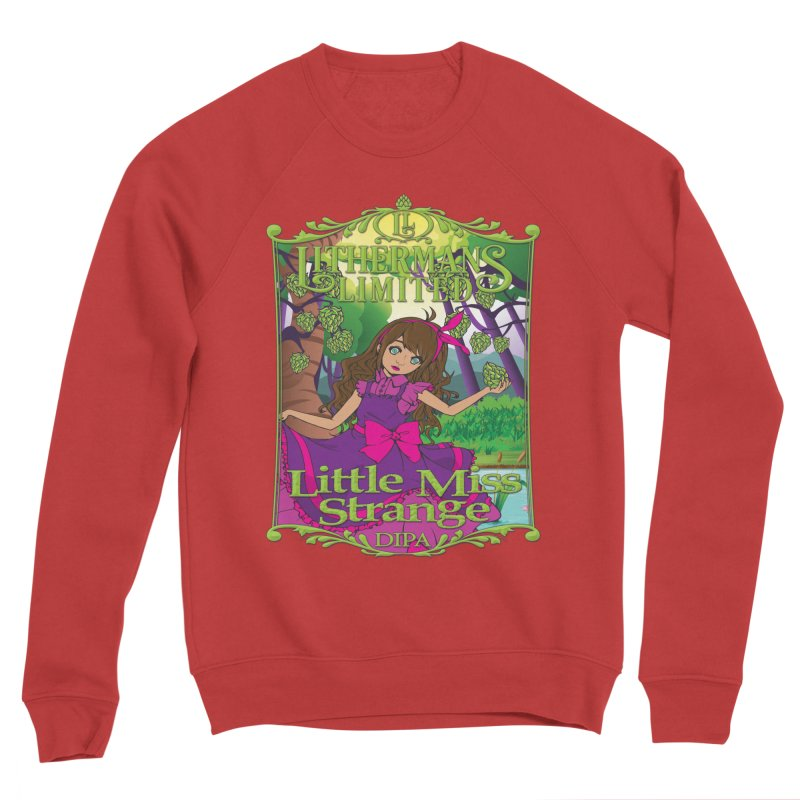 Little Miss Strange Women's Sponge Fleece Sweatshirt by Lithermans Limited Print Shop