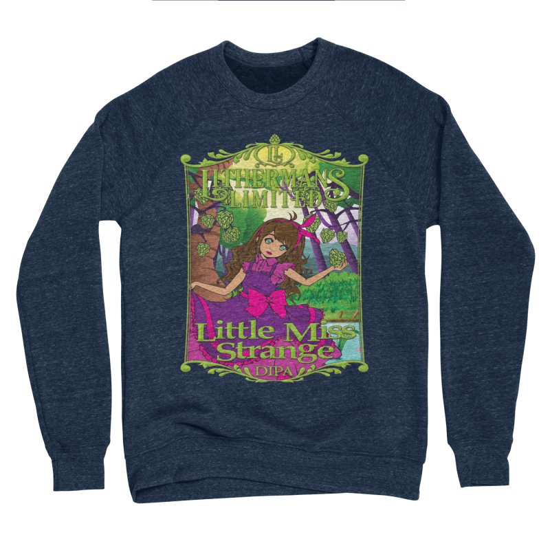 Little Miss Strange Men's Sponge Fleece Sweatshirt by Lithermans Limited Print Shop