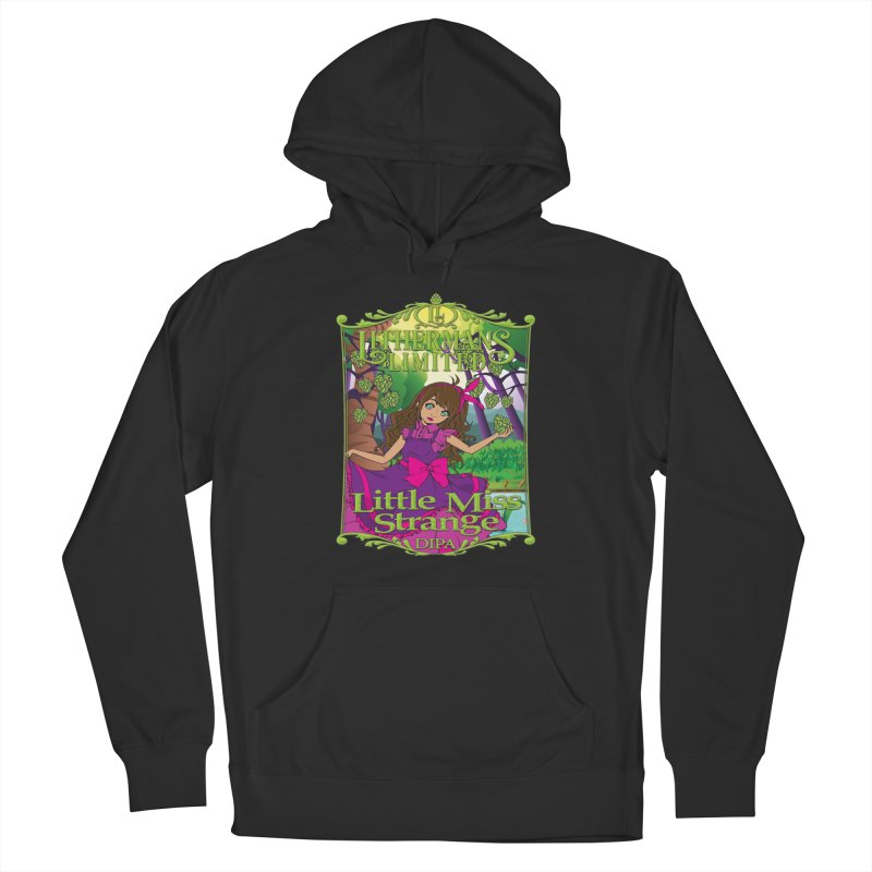 Little Miss Strange Women's French Terry Pullover Hoody by Lithermans Limited Print Shop