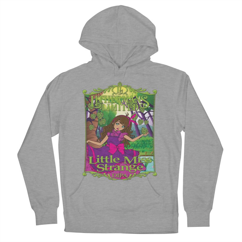 Little Miss Strange Men's French Terry Pullover Hoody by Lithermans Limited Print Shop