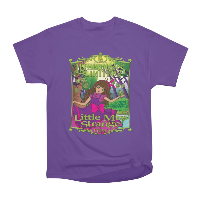 Little Miss Strange Men's Heavyweight T-Shirt by Lithermans Limited Print Shop