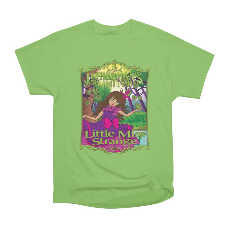 Little Miss Strange Men's Heavyweight T-Shirt by Lithermans Limited Print Shop