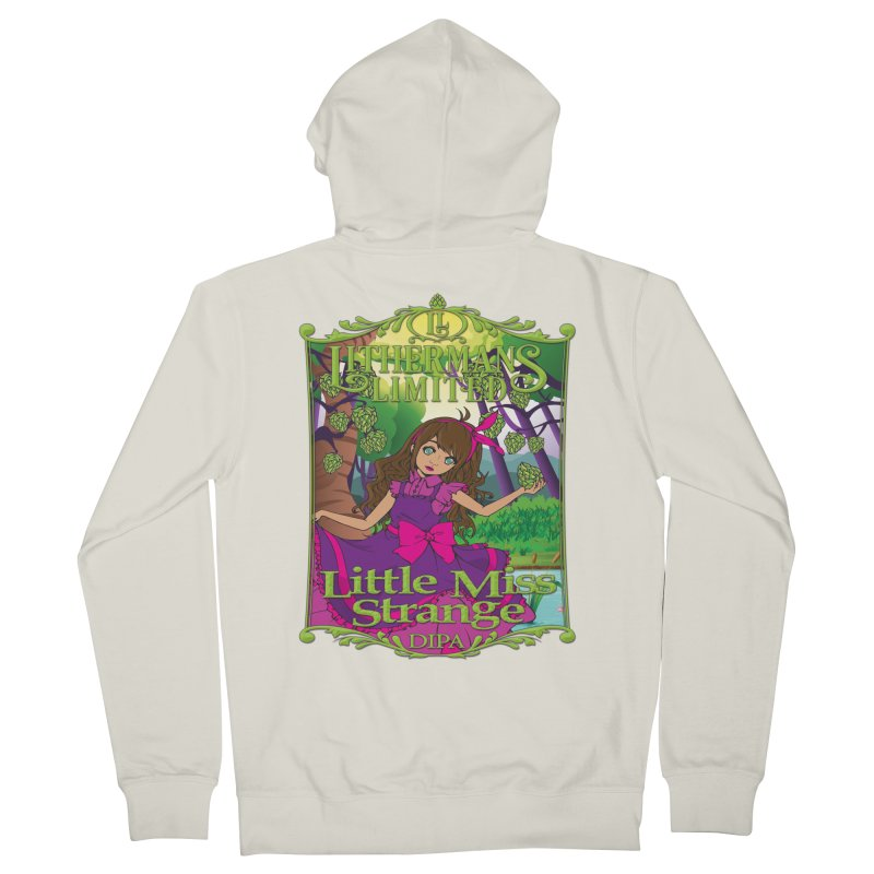 Little Miss Strange Women's French Terry Zip-Up Hoody by Lithermans Limited Print Shop