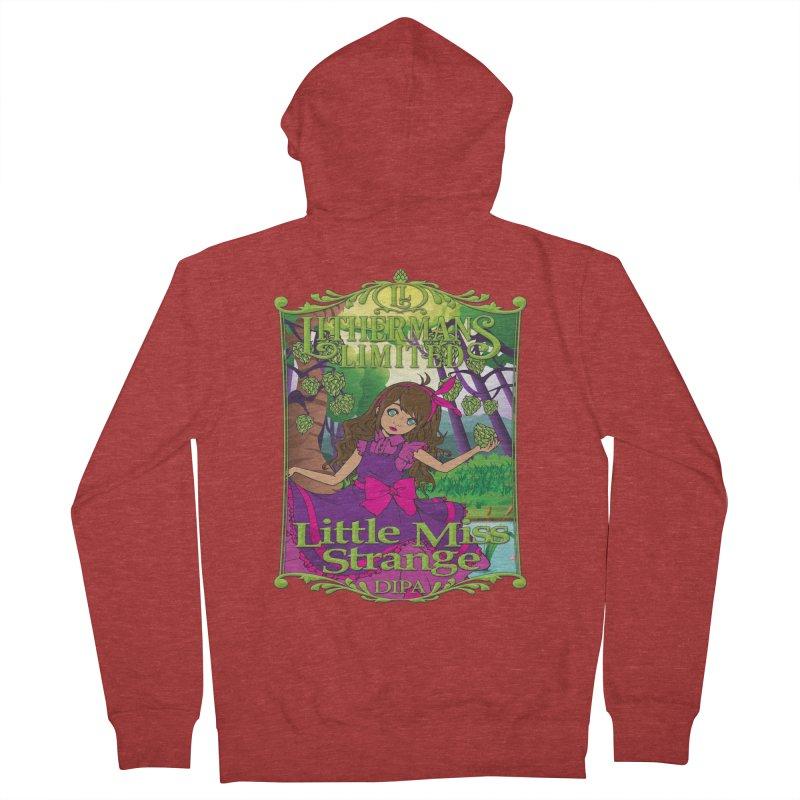 Little Miss Strange Men's Zip-Up Hoody by Lithermans Limited Print Shop