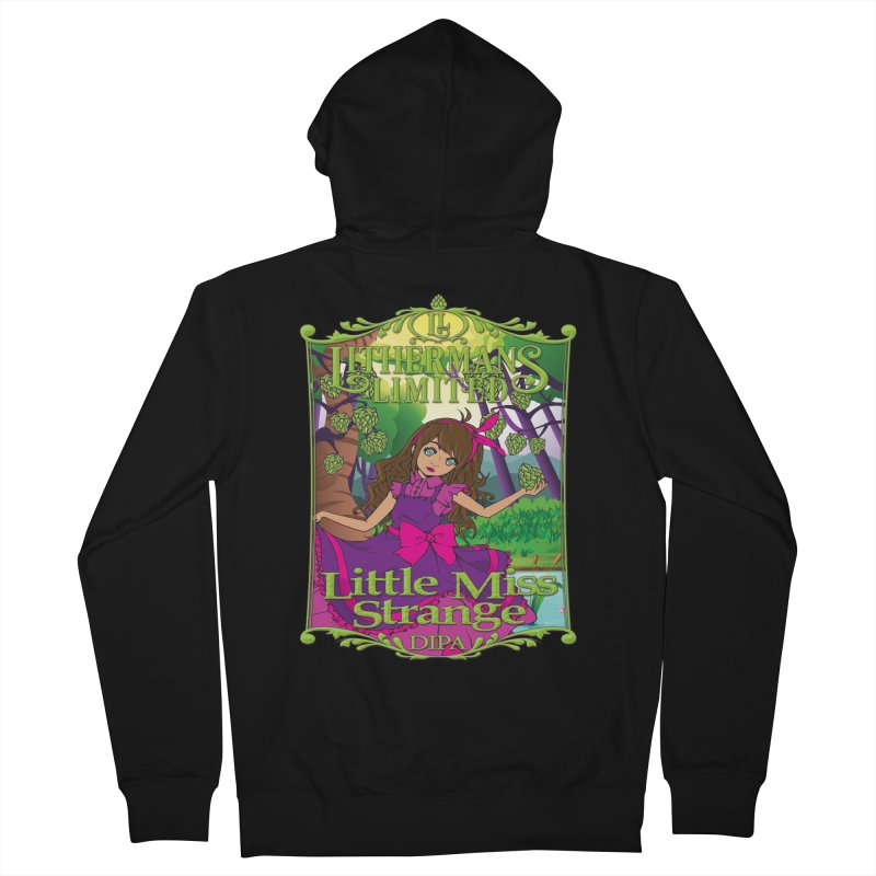 Little Miss Strange Men's Zip-Up Hoody by Lithermans Limited Print Shop