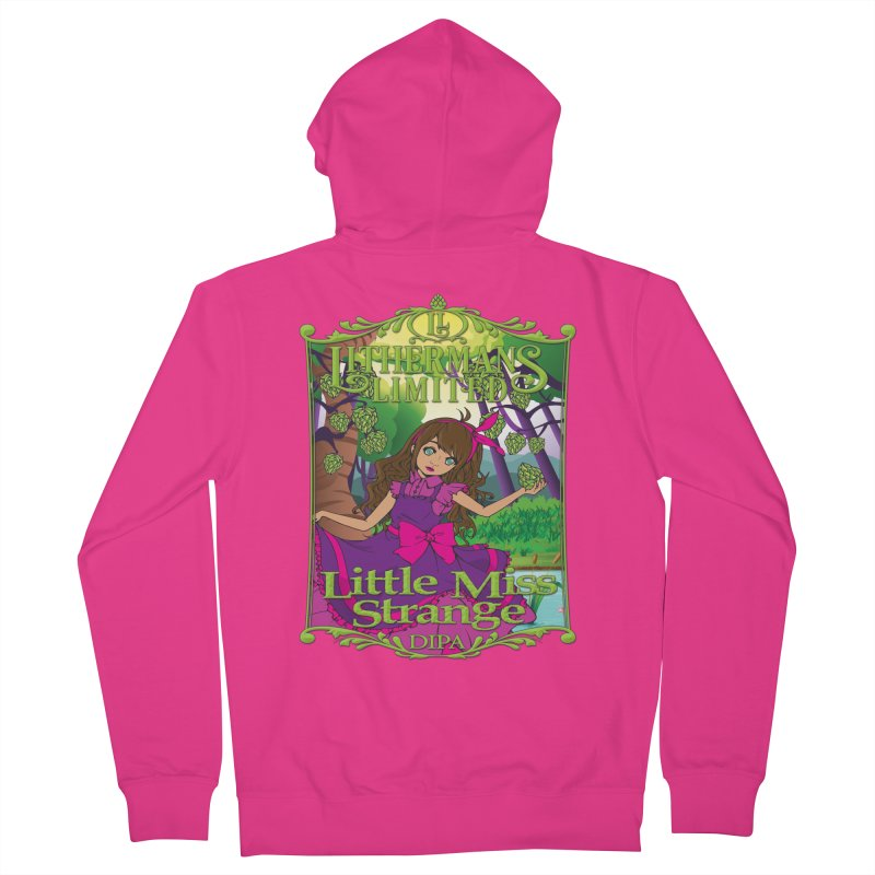Little Miss Strange Men's French Terry Zip-Up Hoody by Lithermans Limited Print Shop