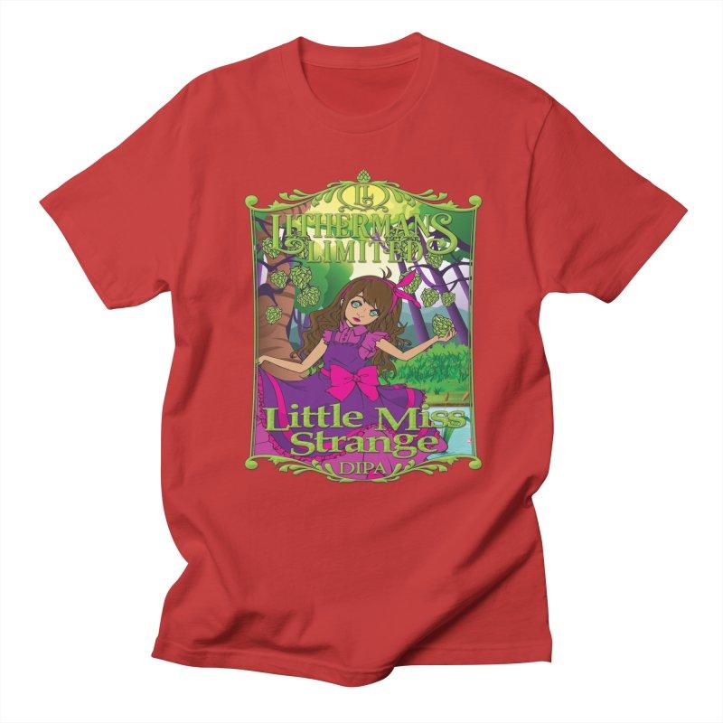 Little Miss Strange Men's Regular T-Shirt by Lithermans Limited Print Shop