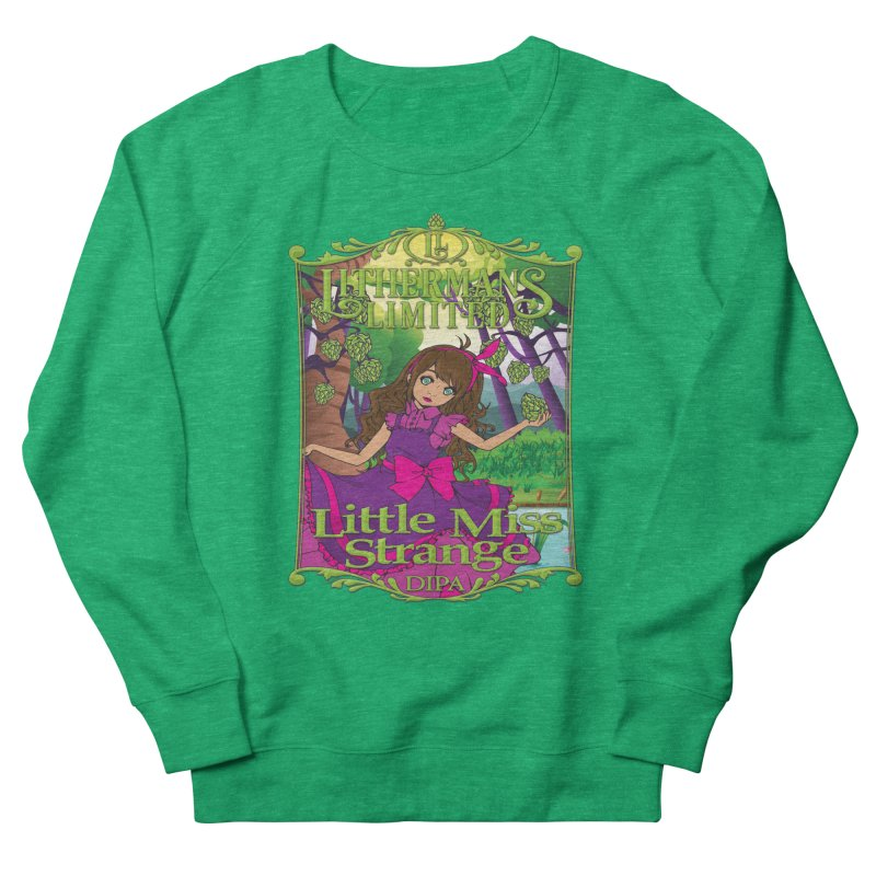 Little Miss Strange Women's French Terry Sweatshirt by Lithermans Limited Print Shop