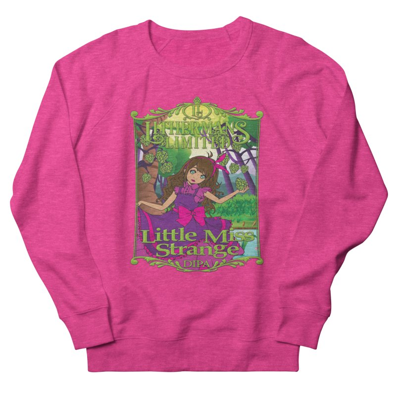 Little Miss Strange Men's French Terry Sweatshirt by Lithermans Limited Print Shop