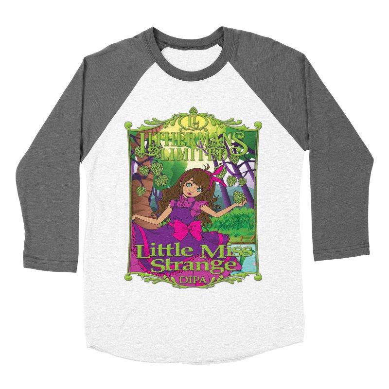 Little Miss Strange Women's Baseball Triblend Longsleeve T-Shirt by Lithermans Limited Print Shop