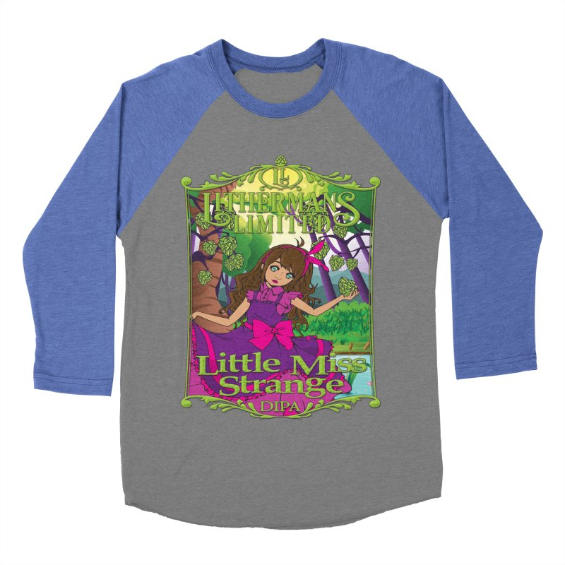 Little Miss Strange Women's Baseball Triblend Longsleeve T-Shirt by Lithermans Limited Print Shop