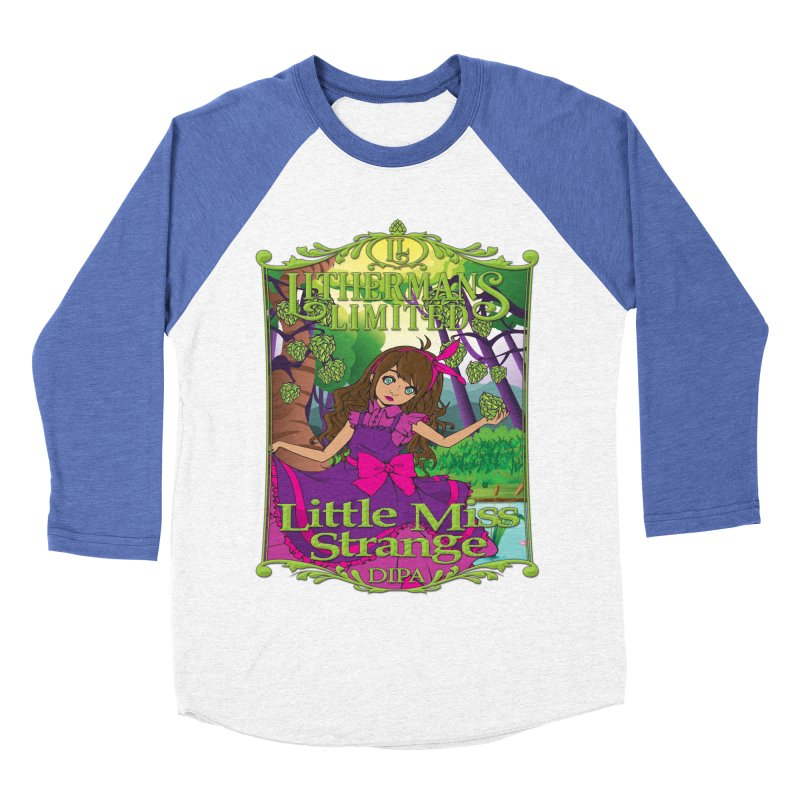 Little Miss Strange Men's Baseball Triblend Longsleeve T-Shirt by Lithermans Limited Print Shop