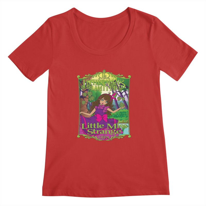 Little Miss Strange Women's Regular Scoop Neck by Lithermans Limited Print Shop