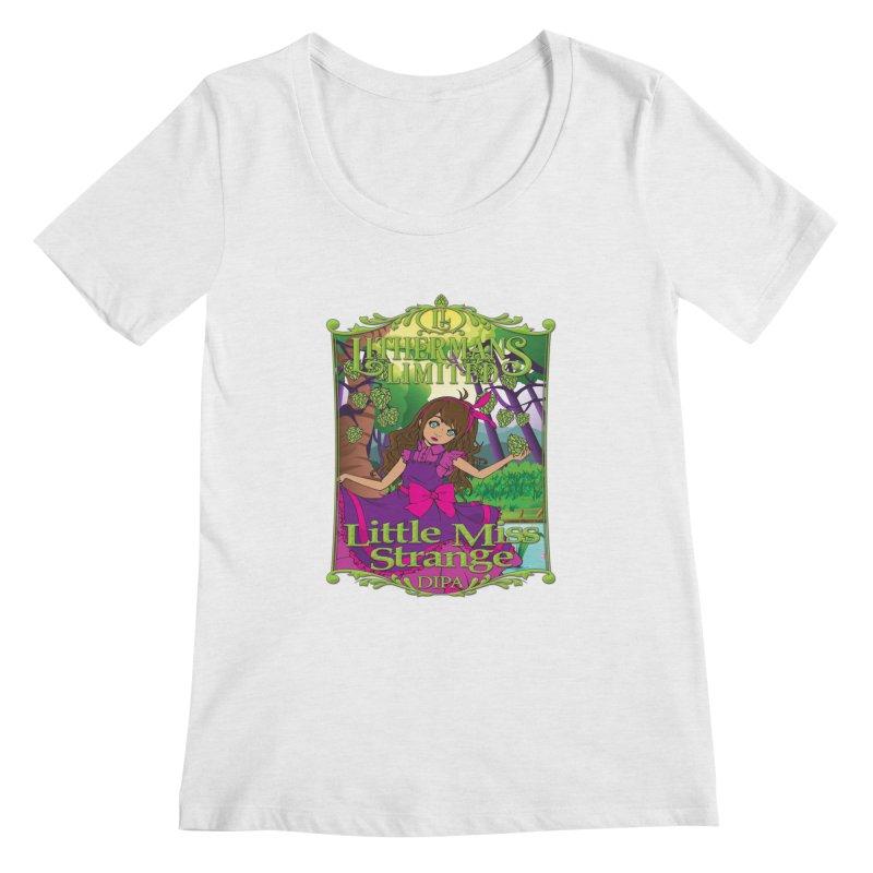 Little Miss Strange Women's Regular Scoop Neck by Lithermans Limited Print Shop