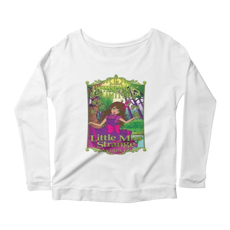 Little Miss Strange Women's Scoop Neck Longsleeve T-Shirt by Lithermans Limited Print Shop