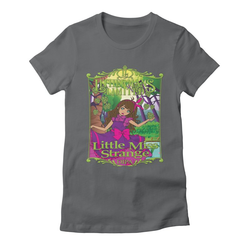 Little Miss Strange Women's Fitted T-Shirt by Lithermans Limited Print Shop