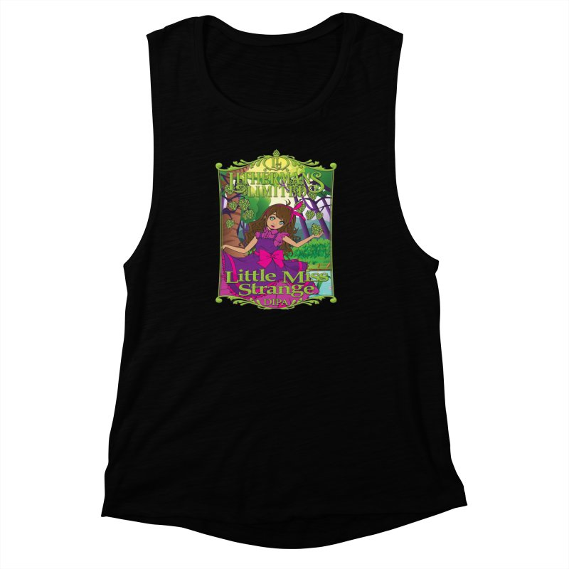 Little Miss Strange Women's Muscle Tank by Lithermans Limited Print Shop