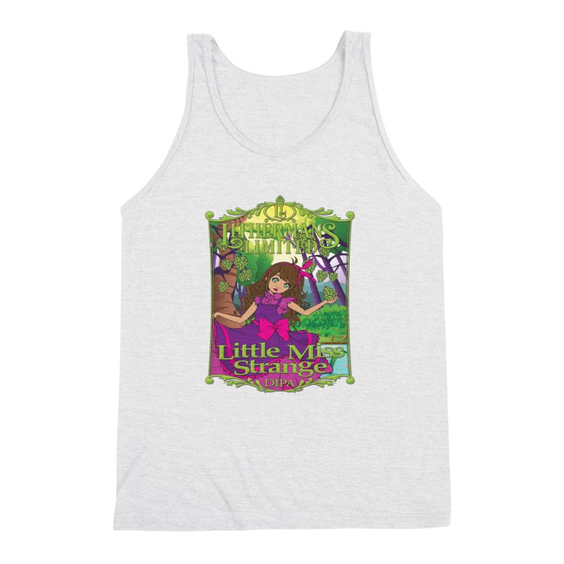 Little Miss Strange Men's Triblend Tank by Lithermans Limited Print Shop