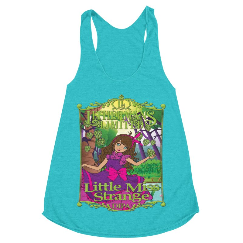 Little Miss Strange Women's Racerback Triblend Tank by Lithermans Limited Print Shop