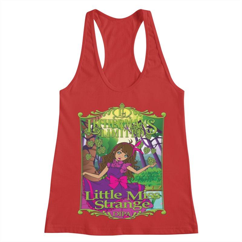 Little Miss Strange Women's Racerback Tank by Lithermans Limited Print Shop