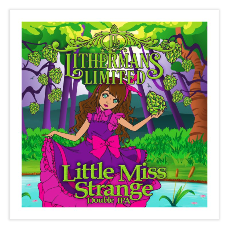 Little Miss Strange Home Fine Art Print by Lithermans Limited Print Shop