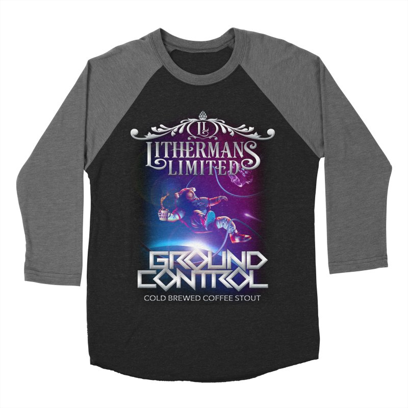 Ground Control Men's Baseball Triblend Longsleeve T-Shirt by Lithermans Limited Print Shop