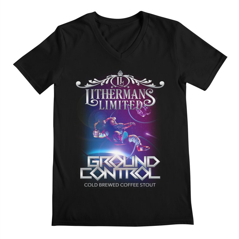 Ground Control Men's Regular V-Neck by Lithermans Limited Print Shop