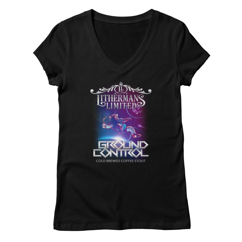 Ground Control Women's Regular V-Neck by Lithermans Limited Print Shop