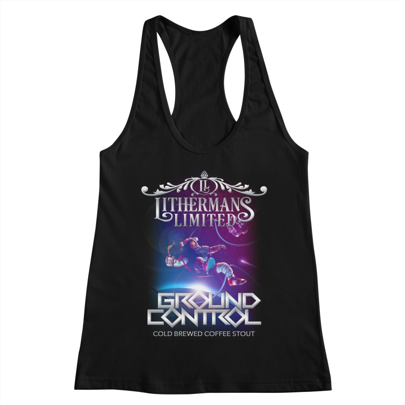 Ground Control Women's Racerback Tank by Lithermans Limited Print Shop