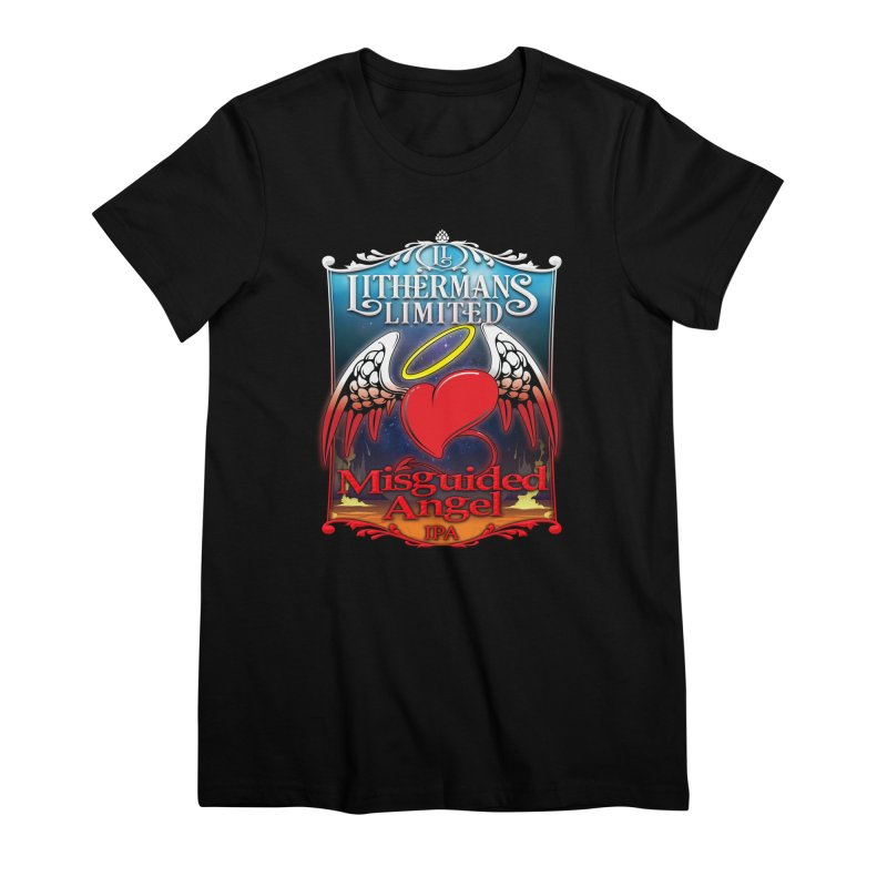 Misguided Angel Women's Premium T-Shirt by Lithermans Limited Print Shop