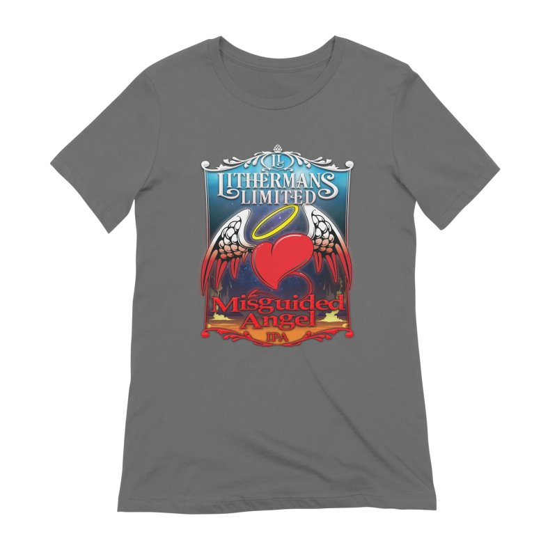 Misguided Angel Women's Extra Soft T-Shirt by Lithermans Limited Print Shop
