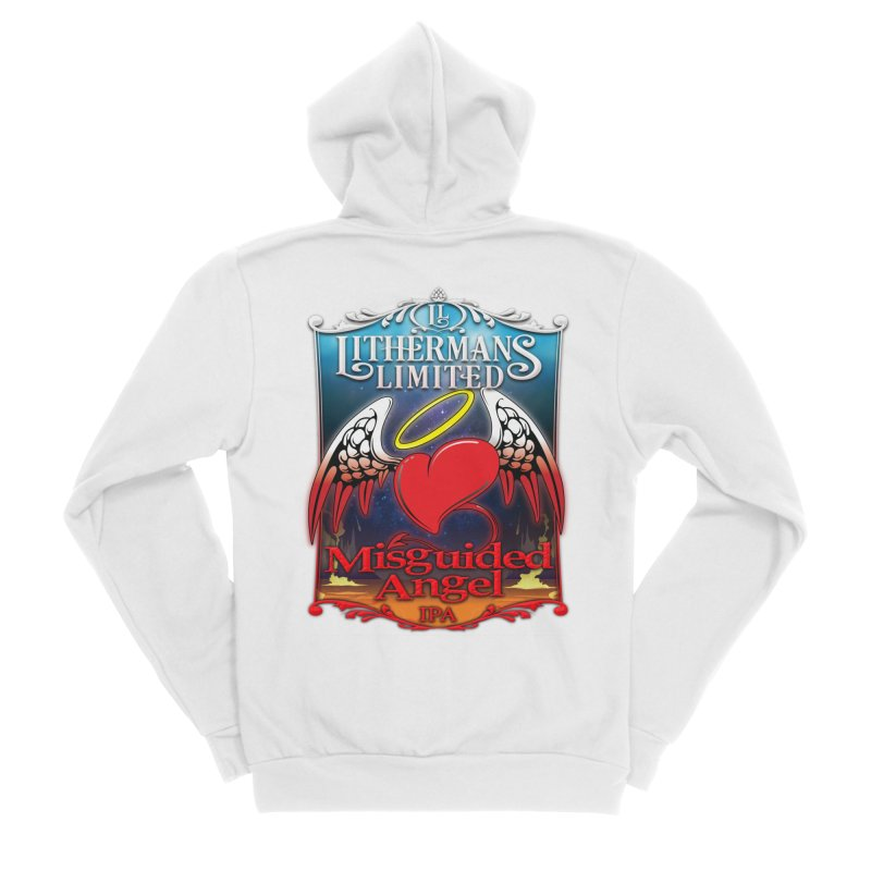 Misguided Angel Men's Sponge Fleece Zip-Up Hoody by Lithermans Limited Print Shop