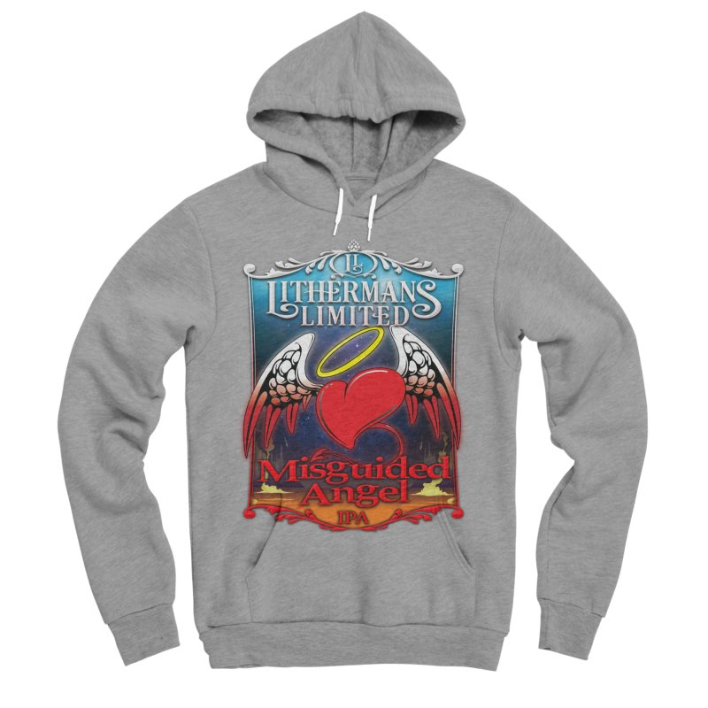 Misguided Angel Men's Sponge Fleece Pullover Hoody by Lithermans Limited Print Shop