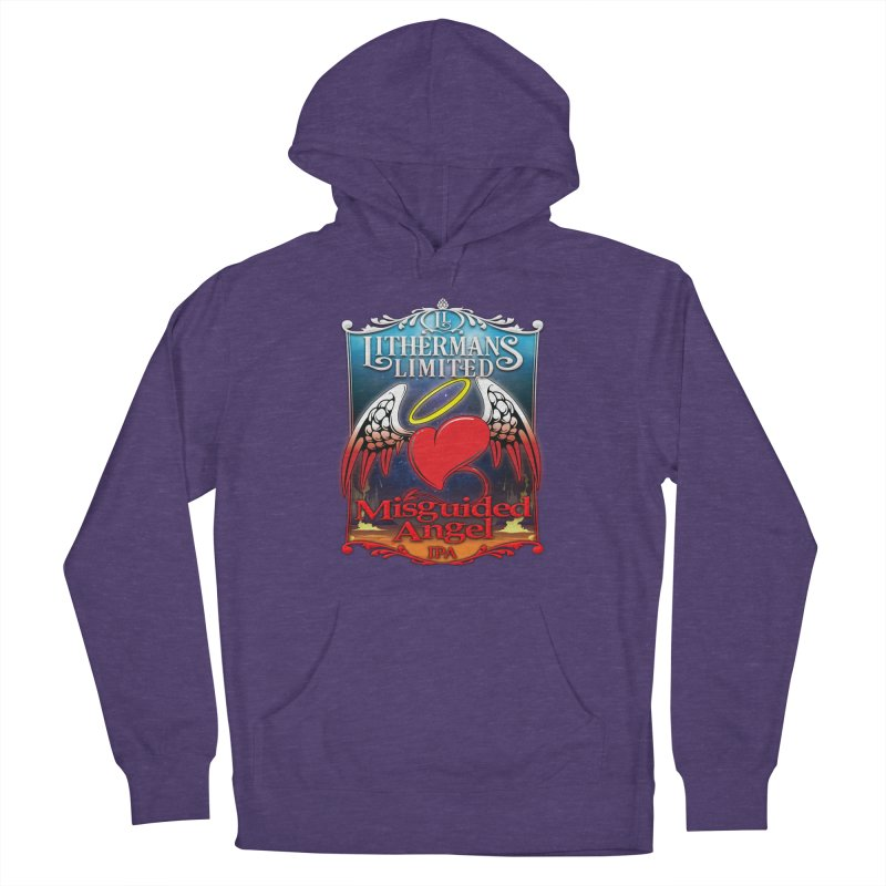 Misguided Angel Men's French Terry Pullover Hoody by Lithermans Limited Print Shop