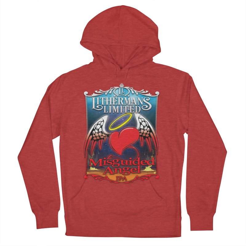 Misguided Angel Women's French Terry Pullover Hoody by Lithermans Limited Print Shop