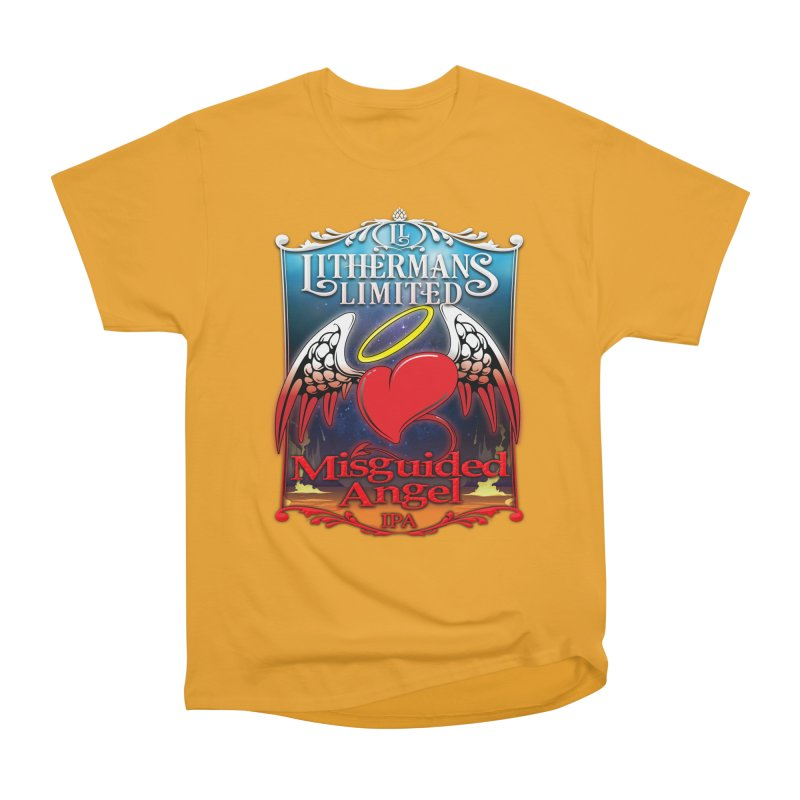 Misguided Angel Men's Heavyweight T-Shirt by Lithermans Limited Print Shop