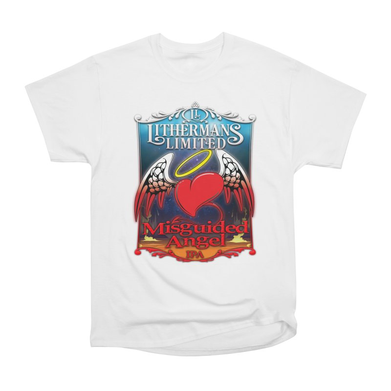 Misguided Angel Women's Heavyweight Unisex T-Shirt by Lithermans Limited Print Shop