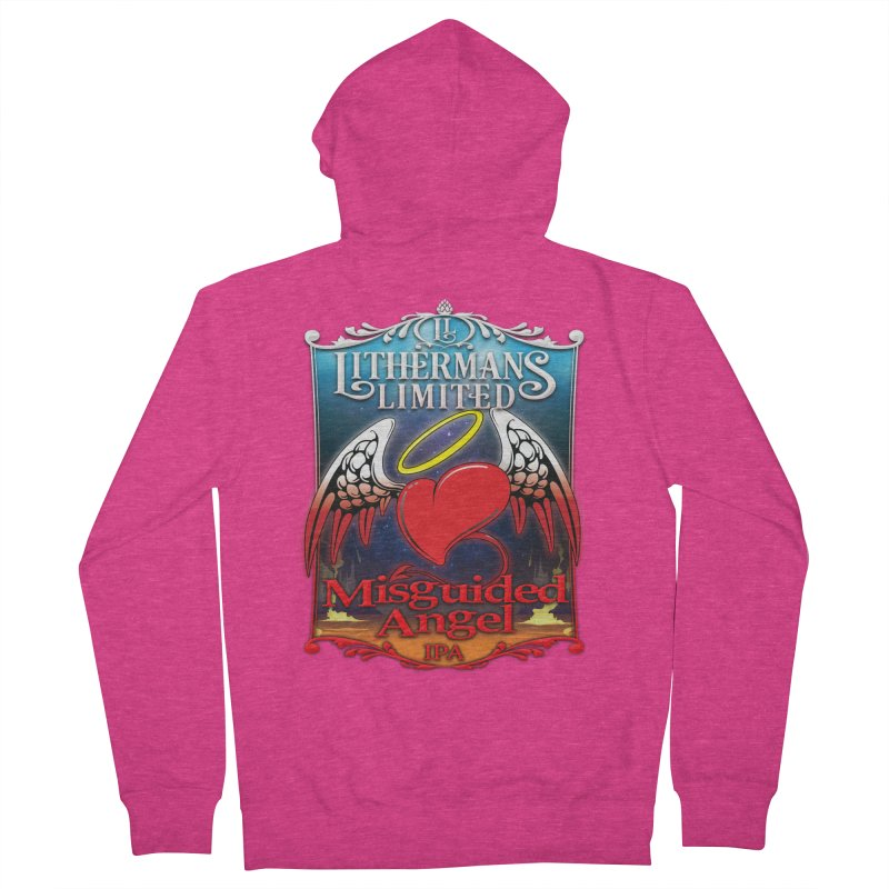 Misguided Angel Women's French Terry Zip-Up Hoody by Lithermans Limited Print Shop