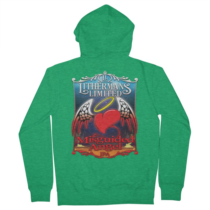 Misguided Angel Men's Zip-Up Hoody by Lithermans Limited Print Shop
