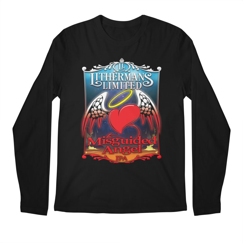 Misguided Angel Men's Regular Longsleeve T-Shirt by Lithermans Limited Print Shop