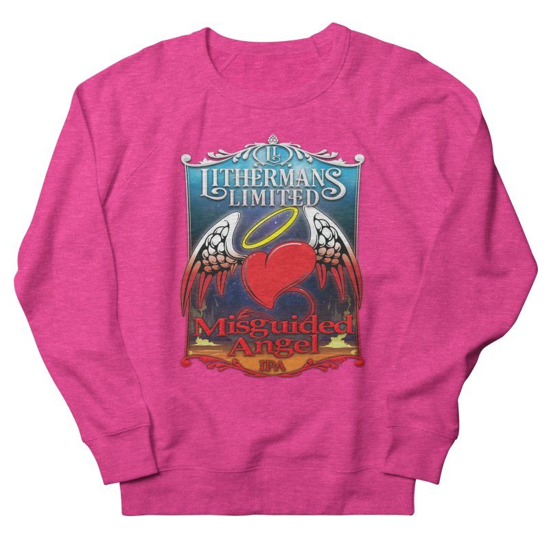 Misguided Angel Women's French Terry Sweatshirt by Lithermans Limited Print Shop