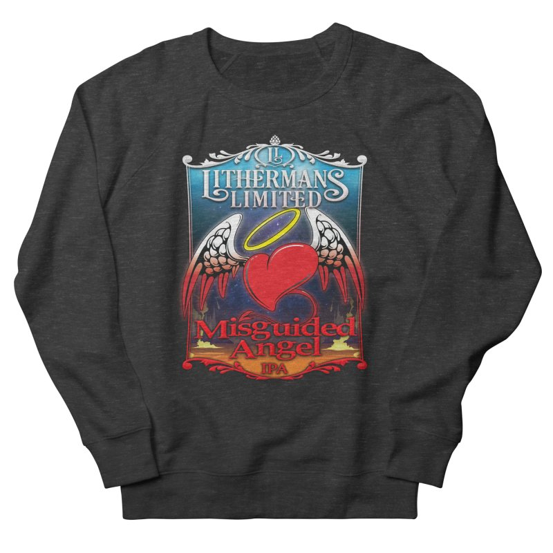 Misguided Angel Men's French Terry Sweatshirt by Lithermans Limited Print Shop