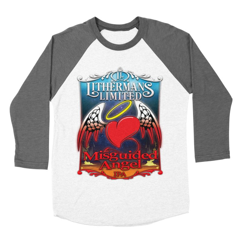 Misguided Angel Men's Baseball Triblend Longsleeve T-Shirt by Lithermans Limited Print Shop