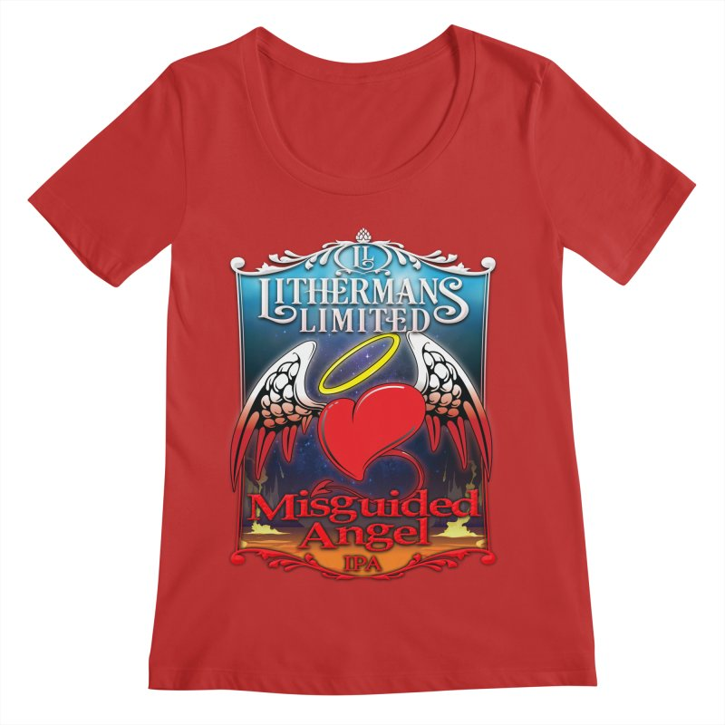 Misguided Angel Women's Regular Scoop Neck by Lithermans Limited Print Shop