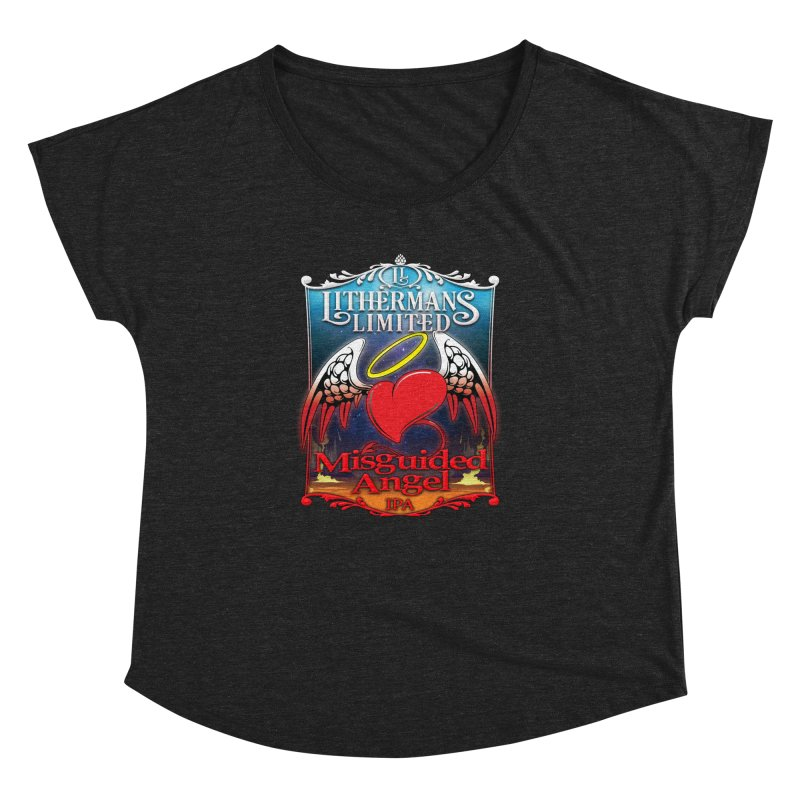 Misguided Angel Women's Dolman Scoop Neck by Lithermans Limited Print Shop