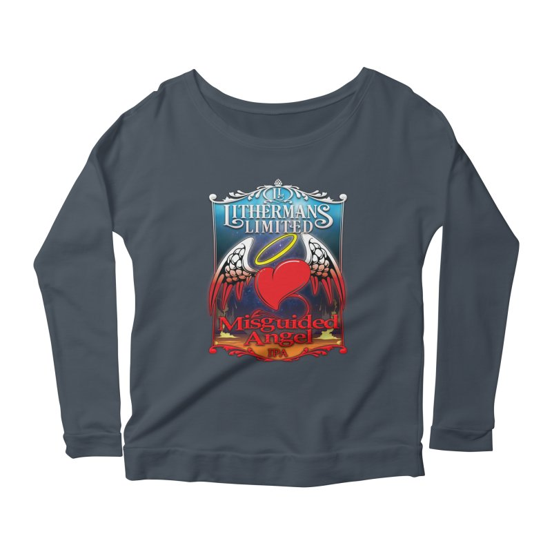Misguided Angel Women's Scoop Neck Longsleeve T-Shirt by Lithermans Limited Print Shop