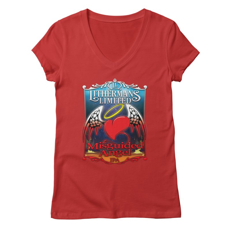 Misguided Angel Women's Regular V-Neck by Lithermans Limited Print Shop
